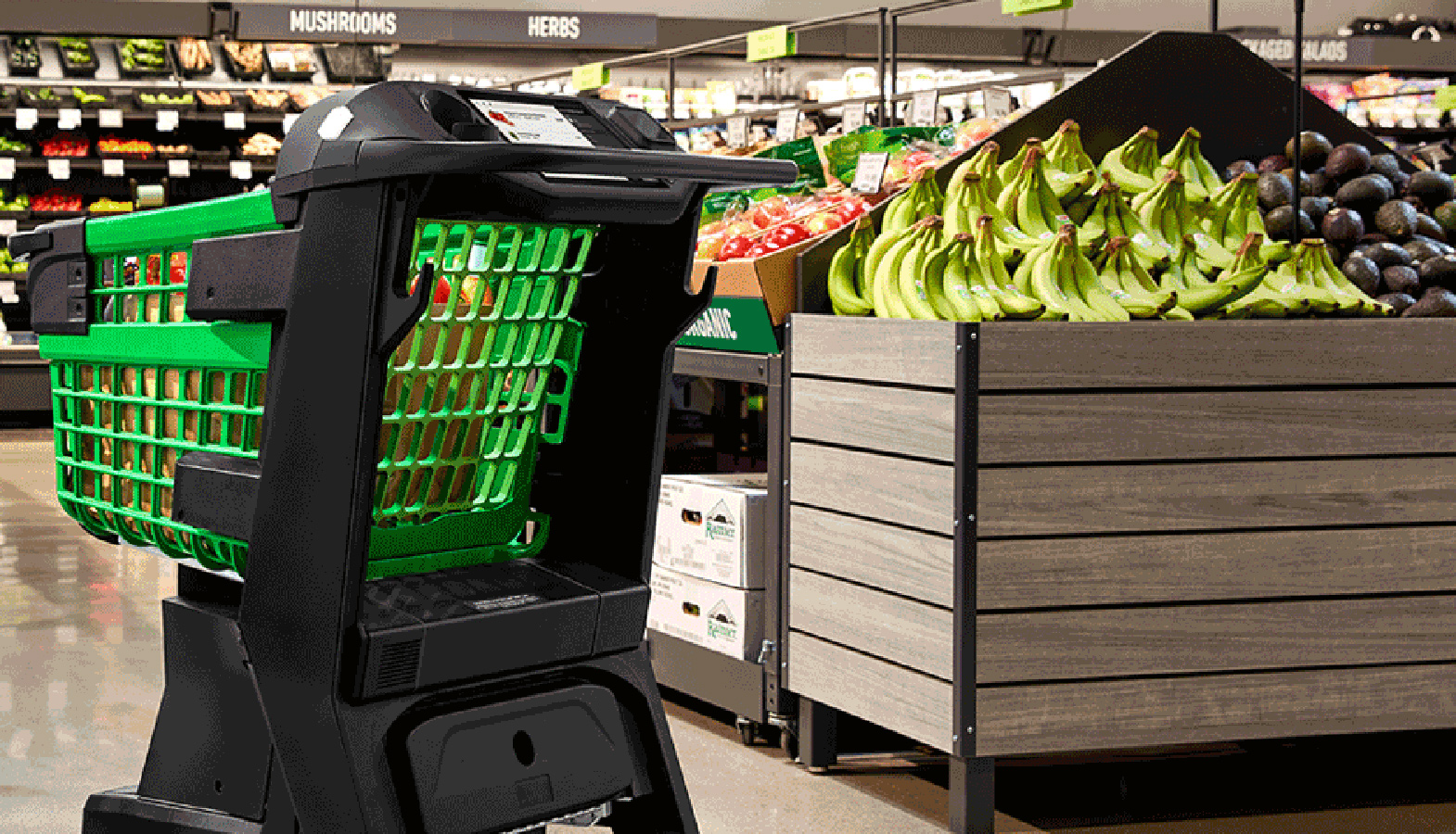 Amazon's Smart Grocery Carts Will Replace Cashiers In 2020