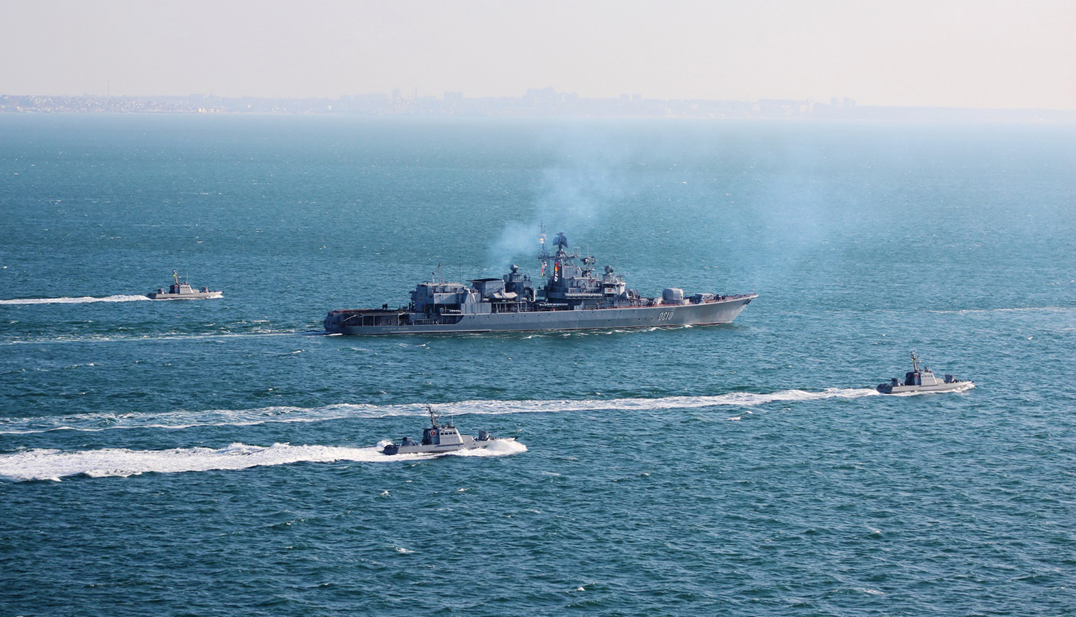 The Russian Black Sea Fleet Monitors The Actions Of NATO Ships And Aircraft During The Sea Breeze Exercise